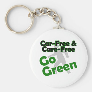 car free & care free - go green keychain