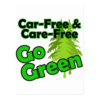 car free & care free postcard