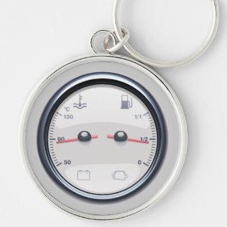 Car Fuel Temperature Meter KeyChain