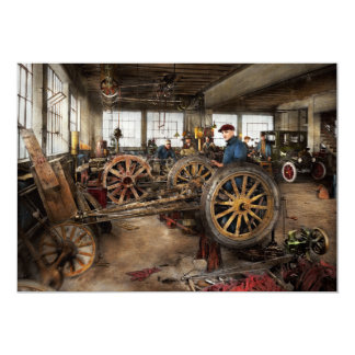 Car - Garage - Blue collar work 1923 Card
