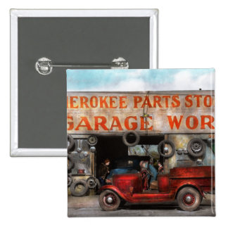 Car - Garage - Cherokee Parts Store - 1936 2 Inch Square Button