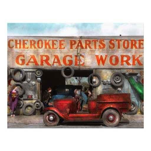 Car garage cherokee parts store 1936 flyer zazzle for Garage auto discount montpellier