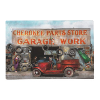 Car - Garage - Cherokee Parts Store - 1936 Placemat