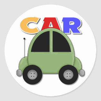 Car Gift For Kids Classic Round Sticker