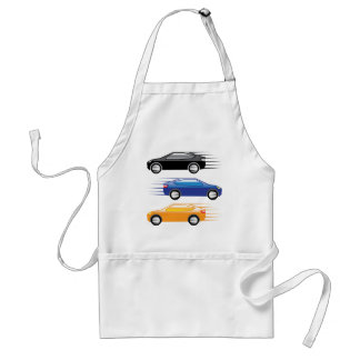 Car going fast adult apron