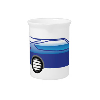Car going fast beverage pitcher