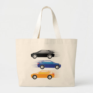 Car going fast large tote bag