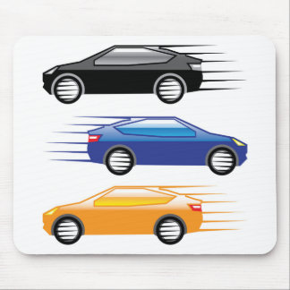 Car going fast mouse pad