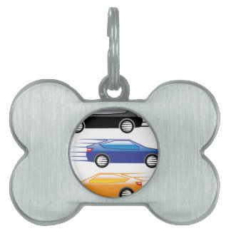 Car going fast pet tag