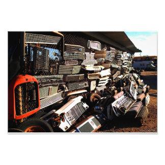 Car grills - Junkjard art Photograph