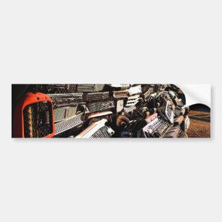 Car grills - Junkyard art Photograph Bumper Stickers