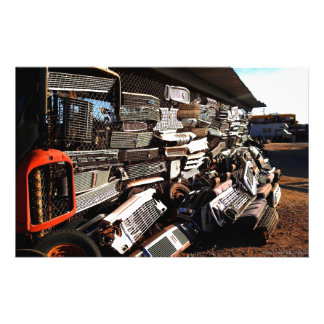 Car grills - Junkyard art Photograph Stationery Design