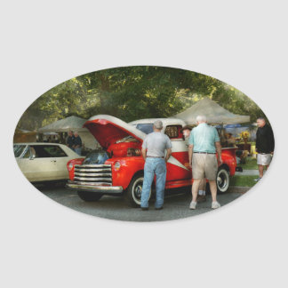 Car - Guys and cars Oval Sticker