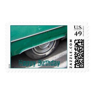 car Happy Birthday Postage