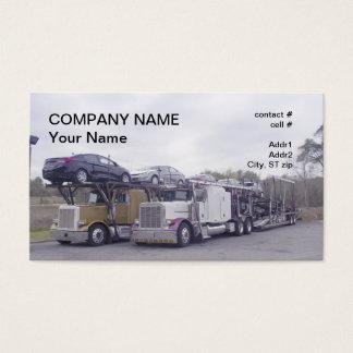 car hauler transport business card
