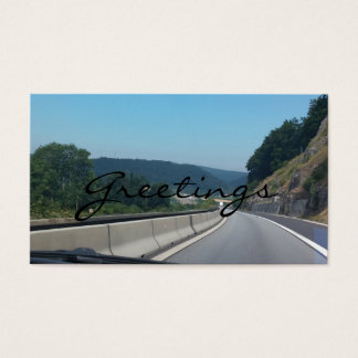 Car Holiday Mountains Europe Austria Photography Business Card
