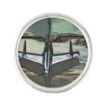 Car hood as art lapel pin
