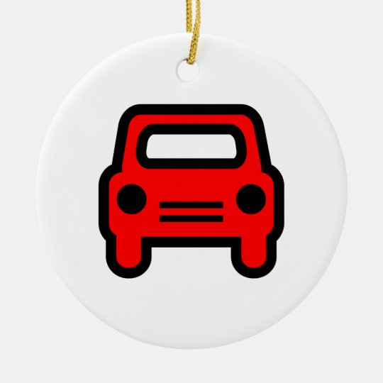 Car Icon Ceramic Ornament