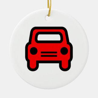 Car Icon Christmas Tree Ornaments
