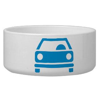 Car icon pet bowls