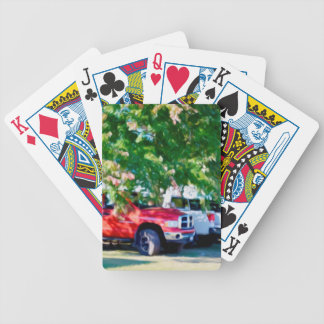 Car In Green Nature 2 Poker Deck