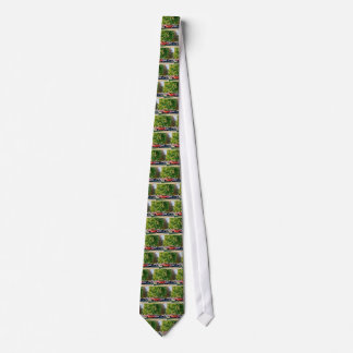 Car in green nature tie