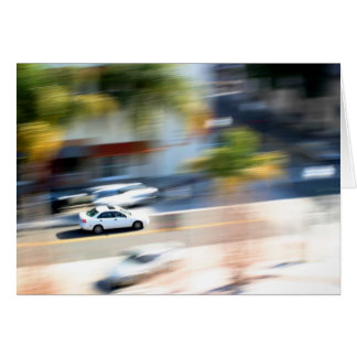 Car In Motion Card