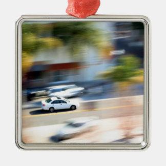 Car In Motion Metal Ornament