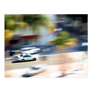 Car In Motion Postcard