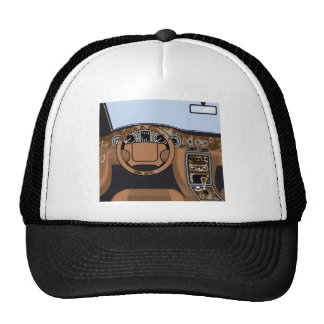 Car interior Wood Trim Vector Trucker Hat