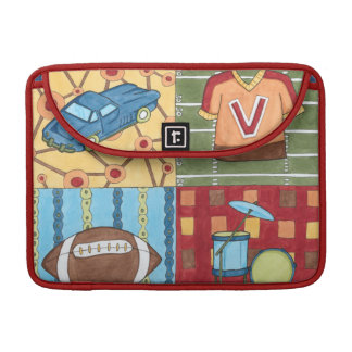 Car, Jersey, Football and Drum Kit Sleeve For MacBook Pro
