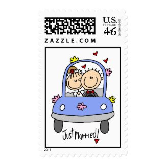 Car Just Married Postage stamp