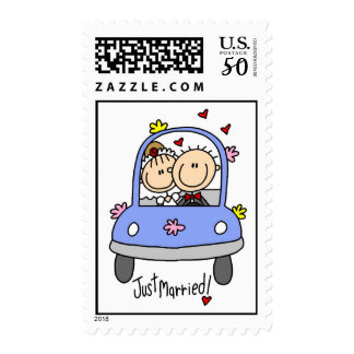 Car Just Married Postage