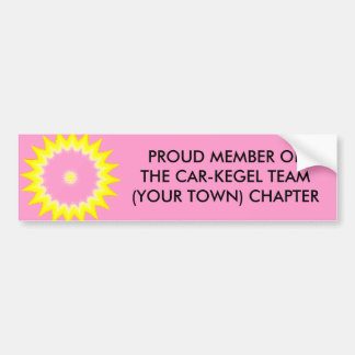 CAR-KEGEL TEAM MEMBER - bumper sticker