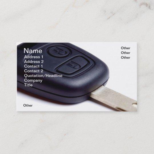 Car Key Business Card Zazzle Com