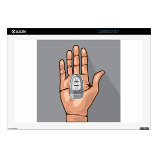 """Car key in a hand vector 17"""" laptop decals"""