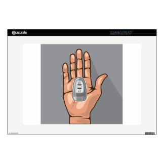 """Car key in a hand vector decals for 15"""" laptops"""