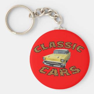 Car keychain. basic round button keychain