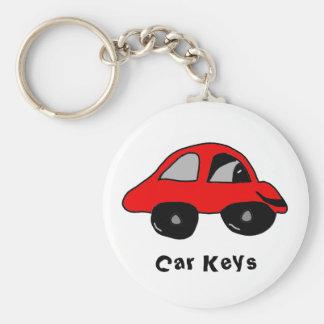, Car Keys Basic Round Button Keychain