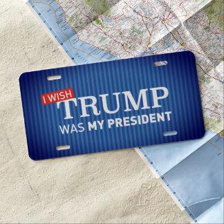 Car License Plate I wish Trump was my president