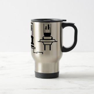 Car lightbulb headlight vector travel mug