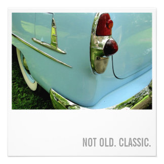Car Lover 50th Birthday - Not Old. Classic Invite