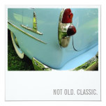 Car Lover 50th Birthday - Not Old. Classic 5.25x5.25 Square Paper Invitation Card
