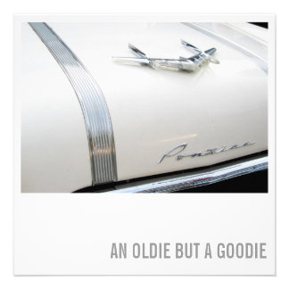 Car Lover 50th Birthday - Oldie but Goodie Personalized Invitation