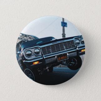 Car Low Rider Vintage Oldschool Automotive Driving Button