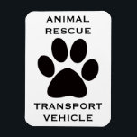 """Car Magnet: Animal Rescue Transport Vehicle Magnet<br><div class=""""desc"""">Animal rescuers! Find each other easily at transport sites with your Animal Rescue Transport Vehicle car magnets. Great gift for the animal people in your life.</div>"""