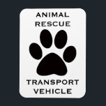 "Car Magnet: Animal Rescue Transport Vehicle Magnet<br><div class=""desc"">Animal rescuers! Find each other easily at transport sites with your Animal Rescue Transport Vehicle car magnets. Great gift for the animal people in your life.</div>"