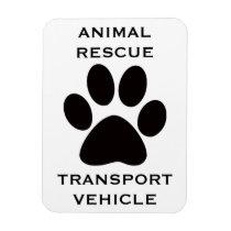 Car Magnet: Animal Rescue Transport Vehicle Magnet