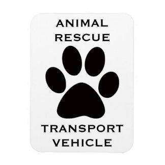 Car Magnet: Animal Rescue Transport Vehicle Rectangular Photo Magnet