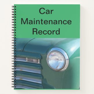 Car Maintaince Record Notebook